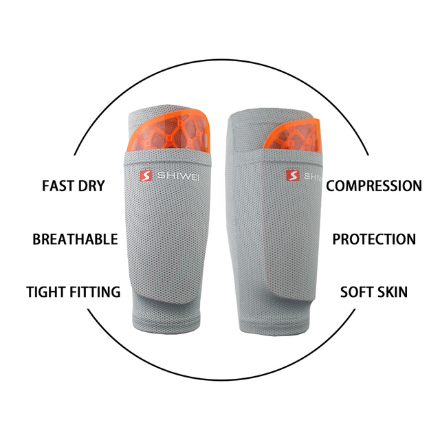 1 Pair Soccer Protective Socks With Pocket For Football Shin Pads Leg Sleeves Supporting Shin Guard Adult Children Support Socks
