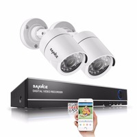 SANNCE 4CH 720P HDMI CCTV System 1080N CCTV DVR 2PCS 1 0 MP IR Outdoor Security