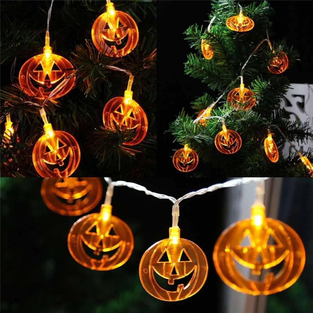20 Led String Lightshalloween Pumpkin Led String Lights Battery Powered Novelty Indoor Outdoor Decorative Lamp Party Festival