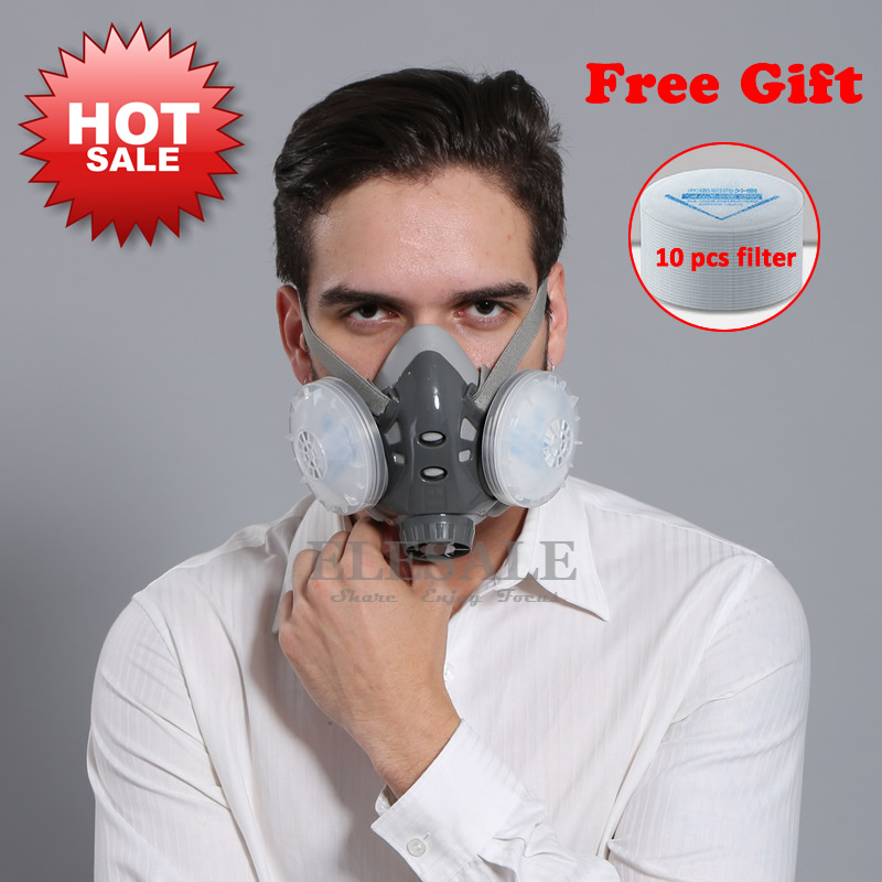 High Quality Half Face Dust Mask Respirator For Builder Carpenter Daily Haze Protection Work Safety Mask 5 Layer Fliter half face peacock eye mask