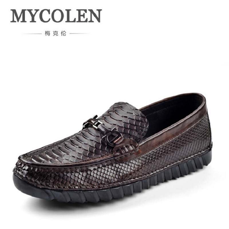 MYCOLEN High Quality Men Shoes Soft Moccasins Loafers Fashion Brand Genuine Leather Crocodile Men Flats Driving Shoes sapatos mapleliz brand breathable slip on solid moccasins shoes for men full grain leather high quality driving soft flat men shoes