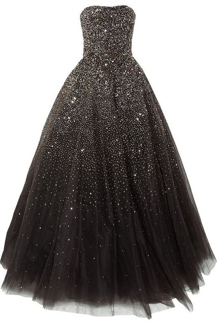 f7a7d85a03 US $199.0 |Cheap Strapless Bling Bling Red Carpet Dress Black Tulle Long  Prom Dress 2017 Formal Dress for Graduation Party Plus Size-in Prom Dresses  ...