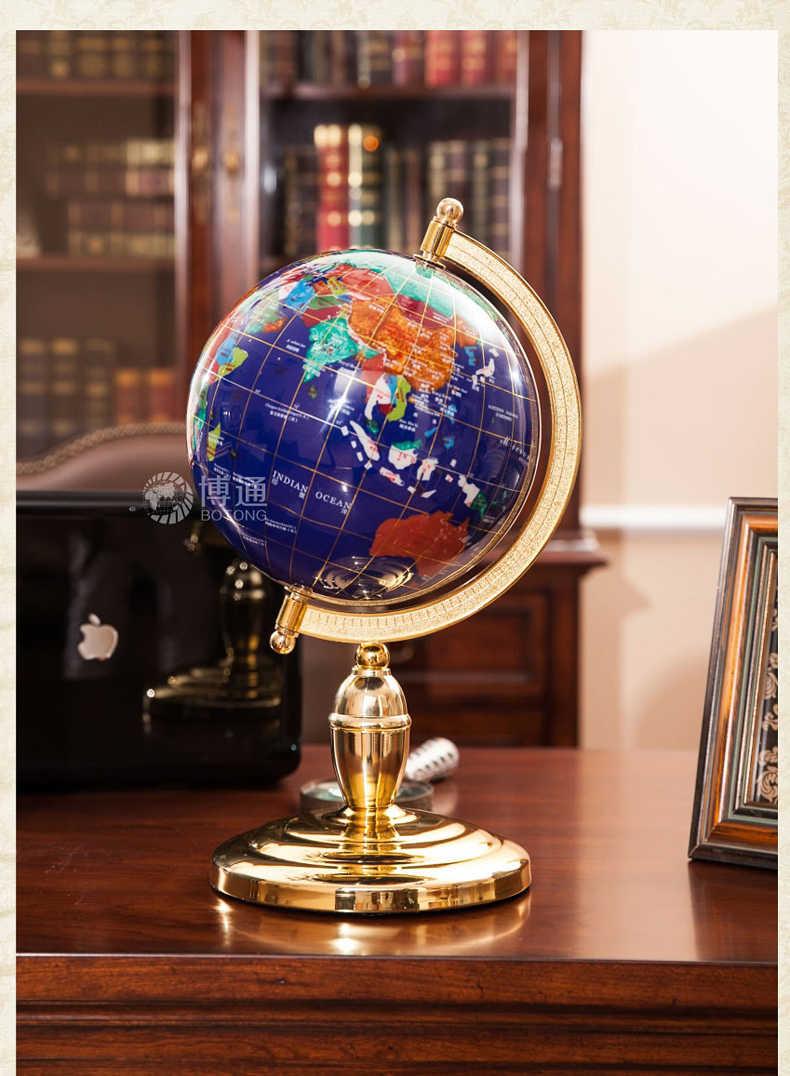 Dolls House Handmade Mini Resin Globe Tellurion Living Room Decor Dark Blue