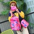Мода геометрия 3 шт./компл. холст рюкзак женщины рюкзак стиль отдыха рюкзак mochila эсколар стиль колледжа школьная сумка набор