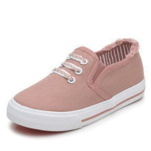 ФОТО kids shoes for girl children canvas shoes boys sneakers 2018 autumn girls shoes high fashion children shoes tx040