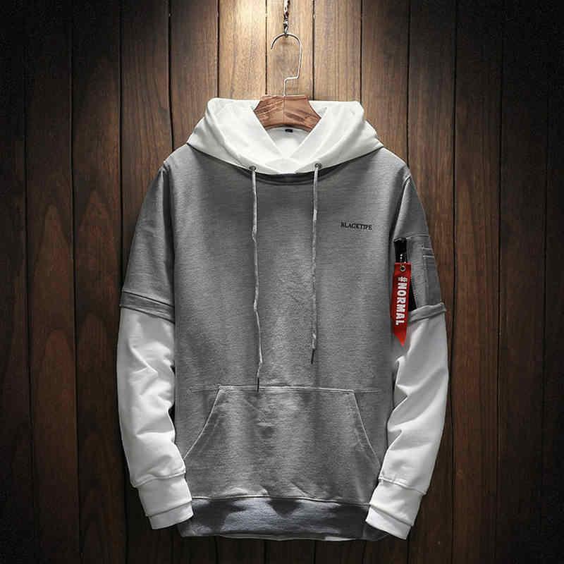 Крутая толстовка для мужчин в стиле хип-хоп, лоскутный пуловер с длинными рукавами, толстовки с капюшоном 2018, толстовка с капюшоном для мужчин, высокое качество M-5XL