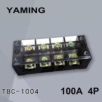 TBC-1004/TB-1004 Fest Typ 100A 600 v 4 Position 0 5-25mm2 Verbindung Terminal Block Elektrische mit kupfer