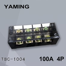 TBC-1004/TB-1004 Fixed Type 100A 600V 4 Position 0.5-25mm2 Connection Terminal Block Electrical with Copper