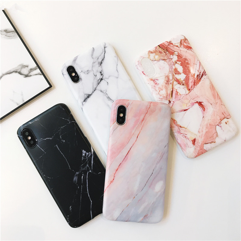 For iphone X case Simple Marble TPU Case for iphone 8 8Plus Scrub TPU case for iphone 6 6plus 7 7plus Protective shell