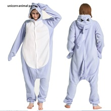 Kigurumi Onesies blue shark men women Cosplay Pyjamas Costume Animal Sleepsuit Jumpsuits Sleepwear Party  Pajamas Carnival