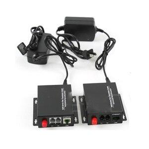 Image 4 - גבוהה באיכות 2 ערוץ PCM קול טלפון סיבים אופטי מדיה ממיר עם Ethernet FC מצב יחיד 20Km