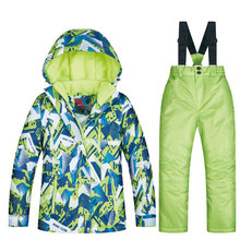 High Quality New Ski Suit For Boys Winter Children Windproof Waterproof Super Warm Snow Skiing And Snowboarding Jacket And Pants cheap MUTUSNOW NYLON Polyester spandex Microfiber COTTON Hooded 2018 MTRT Fits true to size take your normal size Jackets Anti-Wrinkle
