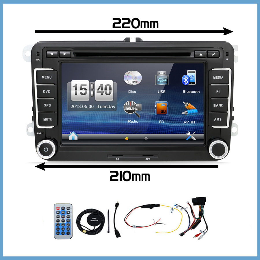 цена на bosion 2 Din Car Dvd Gps for Vw Tiguan Scirocco Touran Car Dvd Gps Headunit Radio Rds A2dp Bt 2din Stereo Cd Vcd Player Parking