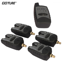 Goture Wireless 1 4 Set Fishing Bite Alarm Digital Carp Fishing Tackle Alert For Fishing Rod