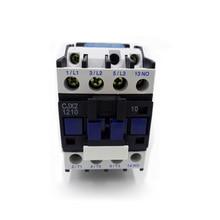 AC 220V контактор CJX2-1210 CJX2-0910 24VAC 1 фаза 12A 9A 380VAC 3 фазы