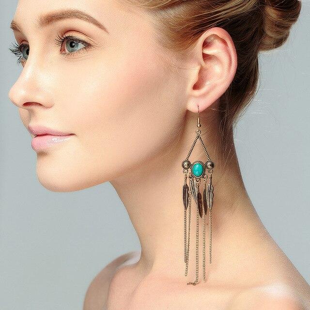 Chandelier Earrings Penntes Long Boho Fringe Chic Jewelry Gypsy Statement Dangle Drop Boheme