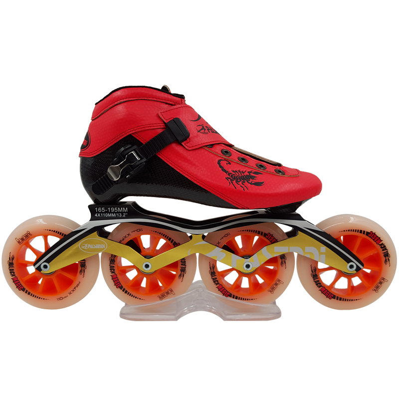 Professional Adults Skate Roller Skates Slalom/Braking/Free Skating Inline Patines Outdoor Sports Roller Shoes for 4 Wheels