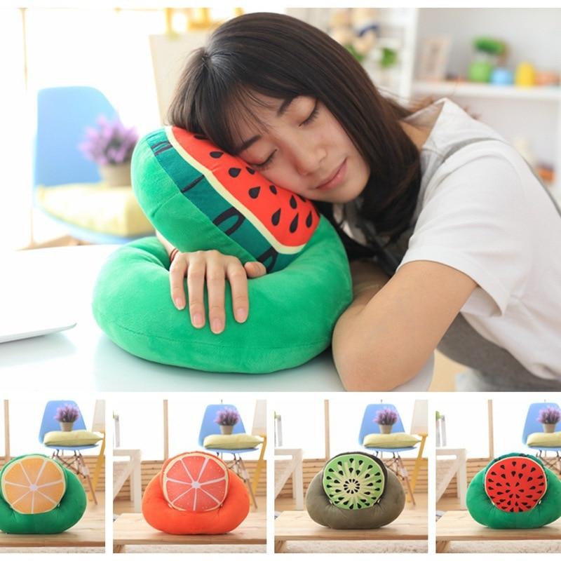 Plush noon break nap time fruit pillow watermelon/kiwi fruit/lemon/grapefruit Office desk Nap New
