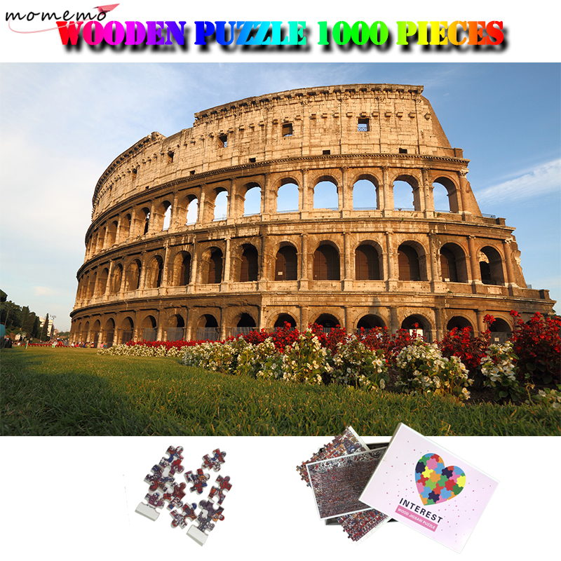 MOMEMO The Colosseum Of Rome Adults 1000 Pieces Wooden Puzzle World Famous Building Landscape Jigsaw Puzzle 1000 Pieces Puzzles