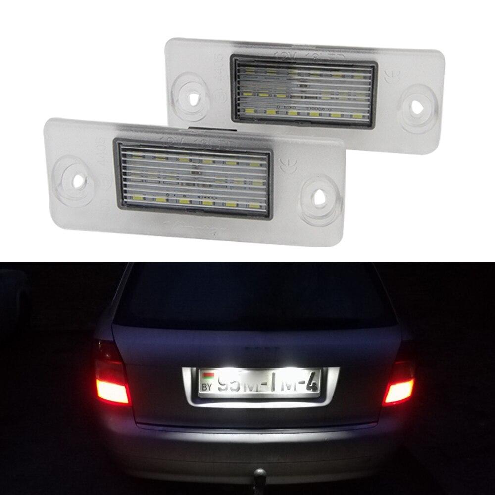 2pc Car 18LED Number License Plate Lights Lamp For Audi A4 B5 95-01 S5 B5 A3 8L S3 Sportback A4 S4 Avant 95-99 6000K Xenon White2pc Car 18LED Number License Plate Lights Lamp For Audi A4 B5 95-01 S5 B5 A3 8L S3 Sportback A4 S4 Avant 95-99 6000K Xenon White