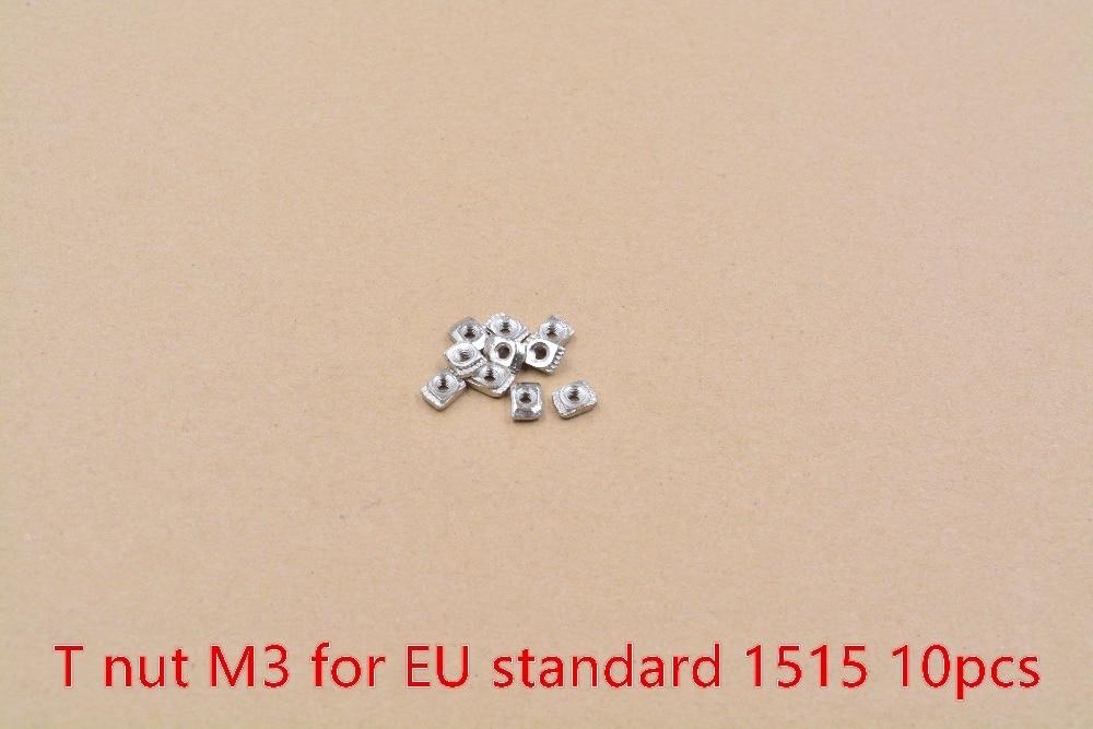 M3 M4 M5 Nut Carbon Steel T Nut Hammer Head Fasten Nut For EU Standard 1515 Aluminum Profile Hammer Head Nut 10pcs