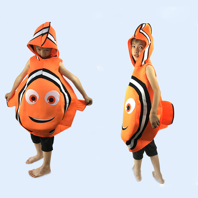 Children Halloween Party Cosplay Clownfish Finding Nemo Blue Finding Dory Dori Toddler Fish Costume for Kids