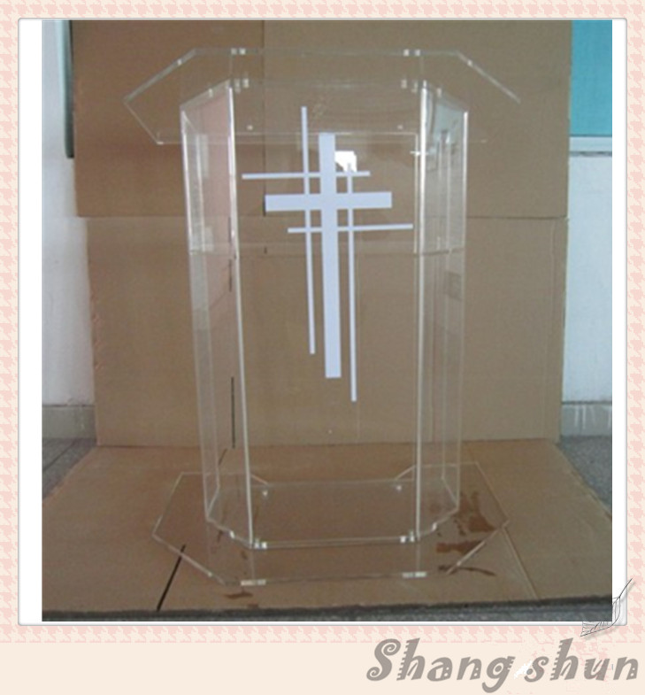 High Quality Price Reasonable Beautiful Clear Acrylic Podium Pulpit Lectern Plexiglass