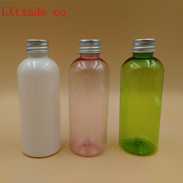 Free shipping 100ml Green pink white Plastic Empty Bottle New Style Originales Refillable Perfume Cosmetic Water Containers