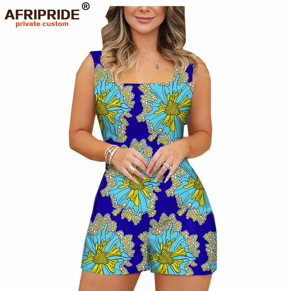 AFRIPRIDE Playsuits Plus-Size Fashion Casual Sleeveless Women Cotton for Tailor-Made