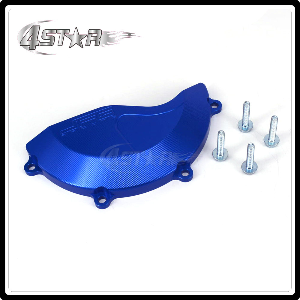 Motorcycle Right Engine Stator Cover Guard For YAMAHA YZ450F YZF450 YZF 450 2010 2011 2012 2013 2014 2015 Aluminun blue motorcycle radiator grill grille guard screen cover protector tank water black for bmw f800r 2009 2010 2011 2012 2013 2014