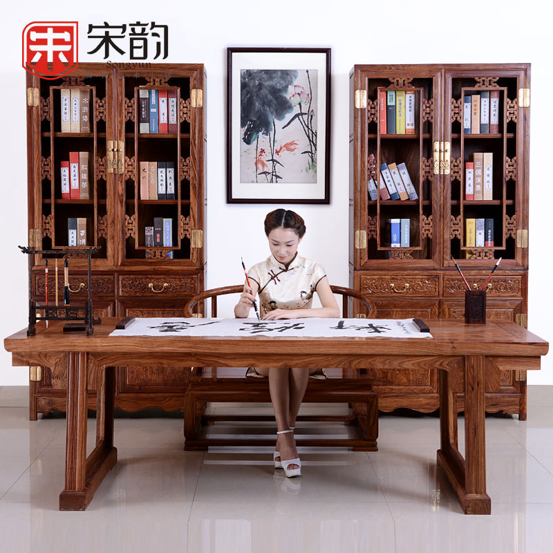 Song Yun Rosewood Painting Wood Table Desk Furnitrue Table Calligraphy Classical Furniture Of Ming And Qing Dynasty