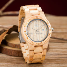 Uwood New 2016 Limited Edition White Maple Wooden Watch Super Fashion Pure Wooden Luxury Watches For Men Women Gift