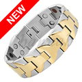 Channah 2017 Bracelet For Men 4in1 2-Tone Gold Large Heavy Stainless Steel Wide Magnetic Magnet Big Bangle Free Shipping Charm
