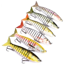 large lure 24CM 165g Multi Jointed Fishing Lure 3D-Eyes Hard Bait With 2/0# Hook ABS Baits For Ocean Lake Tackle