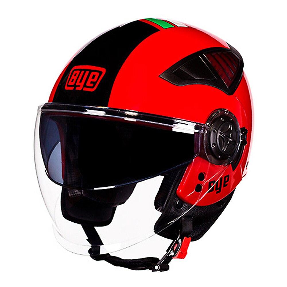BYE Motorcycle Helmet Retro Motorbike 3/4 Open Face Half Helmet DOT Cruiser Touring Chopper Biker Cafe Racer Moto Helmet