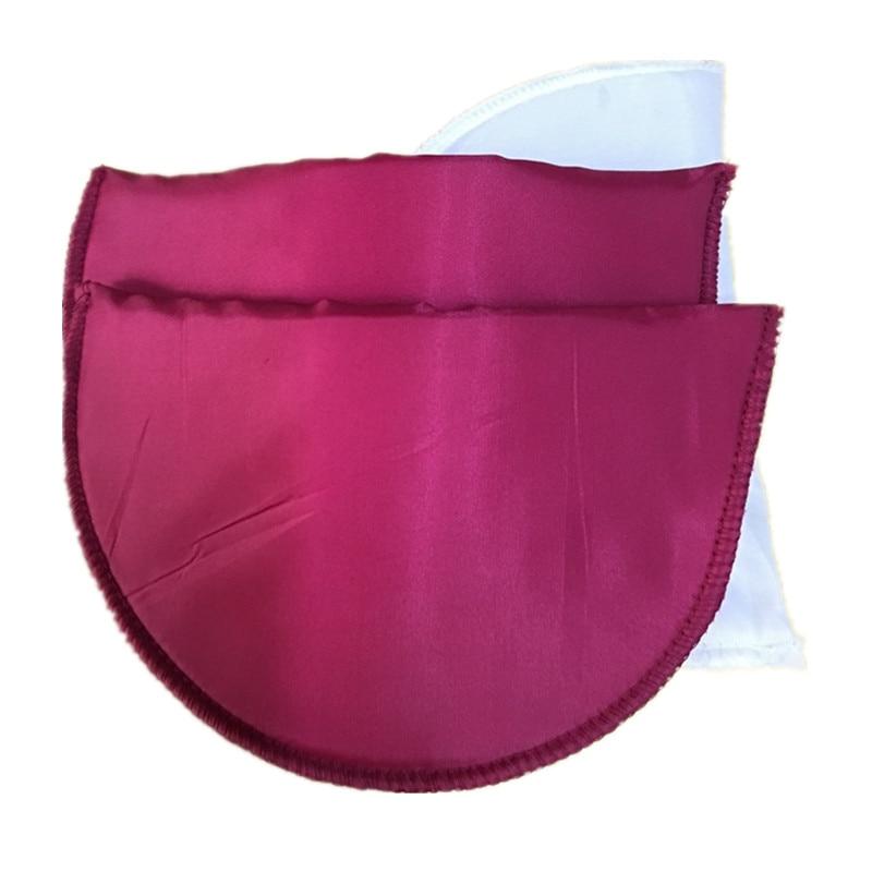 1 пара Высококачественная губчатая Наплечная подкладка для женщин блейзер футболка ветровка одежда аксессуары около 16*10*1 см - Цвет: rose purple