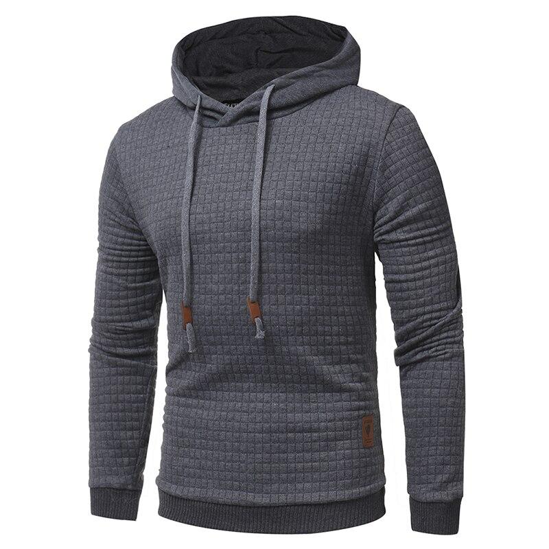 HD-DST Hoodies Men 2018 Male Long Sleeve Solid Color Hooded Mens Sweatshirt Hoodie Tracksuit Sweat Coat Casual Sportswe
