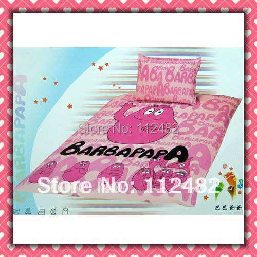 Barbapapa Bettwäsche 4pcs Bedding Set 100% Cotton Barbapapa Pink Printing