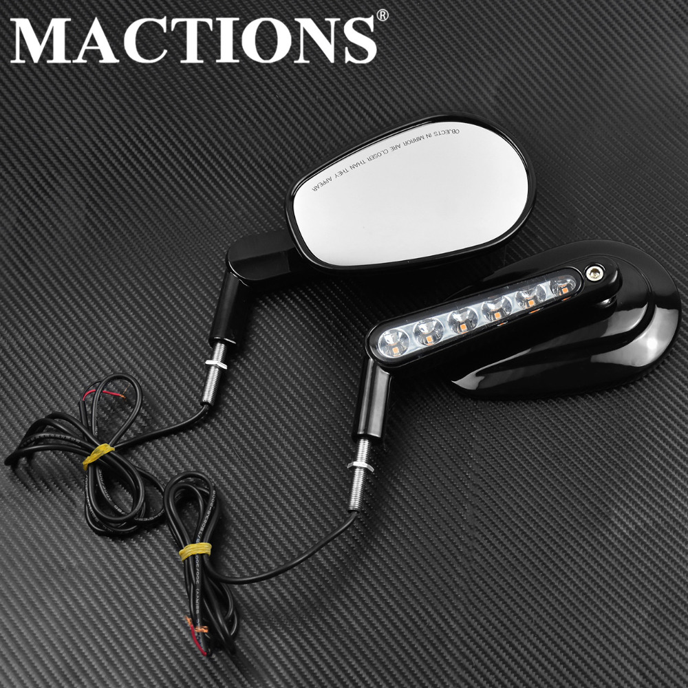 Black Rear View Mirror LED Turn Signals Light For Harley Sportster XL 883 1200 Touring Electra Glide FLHT FLHR FLHTC V-ROD VRSCFBlack Rear View Mirror LED Turn Signals Light For Harley Sportster XL 883 1200 Touring Electra Glide FLHT FLHR FLHTC V-ROD VRSCF