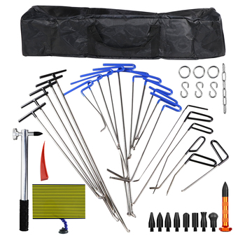 WEYHAA PDR Tools Car Dent Paintless Repair Tools PDR Rod Hooks Kit Dent Removal Tool Set Kit Dent Puller For Car Body Repair auto body tools dent puller kit spotter stud welder spot welding gun washer chuck holder car bodywork dent repair automotive