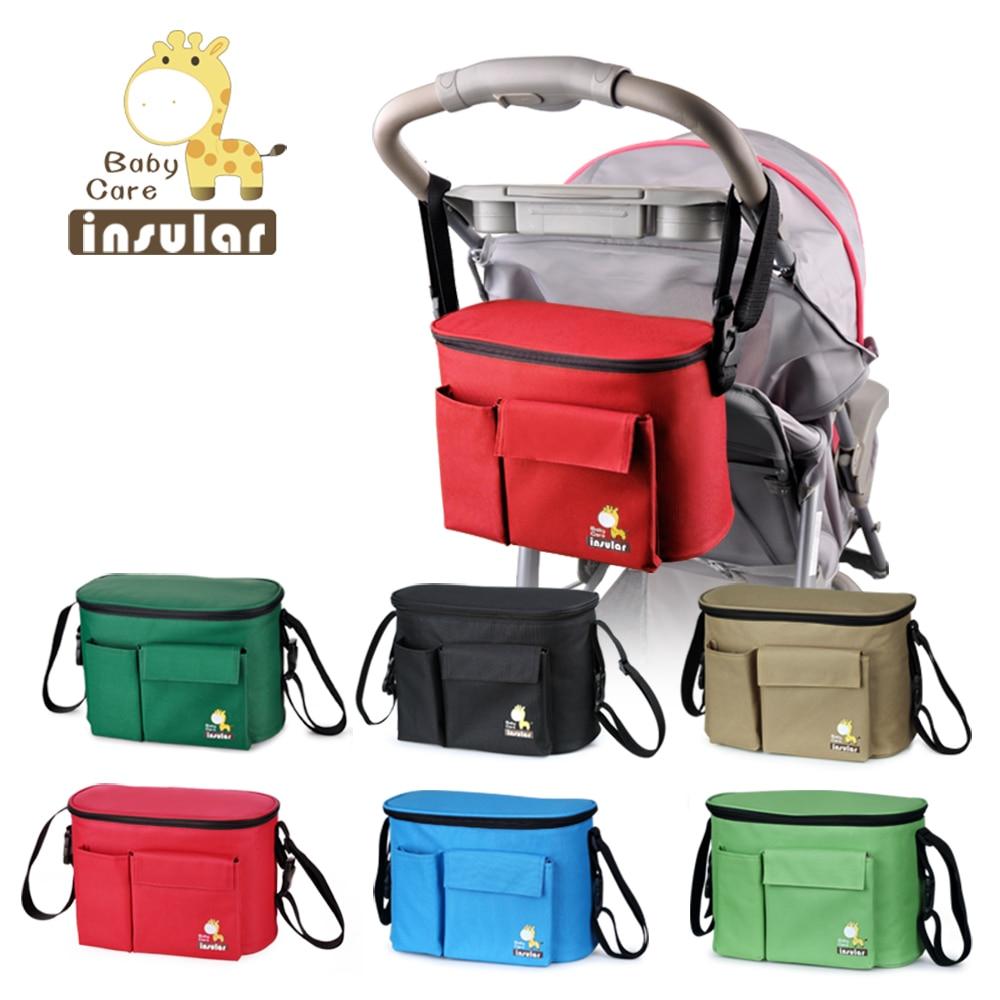 बच्चे के लिए नए आगमन थर्मल इंसुलेशन बैग स्ट्रॉकर्स वाटरप्रूफ बेबी डायपर बदलते बैग