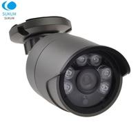 5MP 3.6mm Fixed Lens Bullet Analog Camera Waterproof Outdoor OSD Menu 6Pcs Array Leds Security Infrared Video Camera