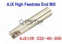 AJX12R C32-40-300 Rosto Moagem Final Cortador AJX Alta velocidade de avanço fresa de topo  De Alta Velocidade de Fresagem Indexável Fresa