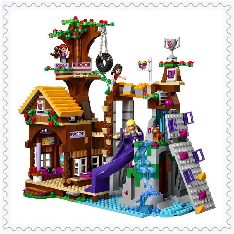 739Pcs Friends Adventure Camp Tree House Model Building Block Toys BELA 10497 DIY Educational Gift For Children Compatible Legoe hot sale 1000g dynamic amazing diy educational toys no mess indoor magic play sand children toys mars space sand