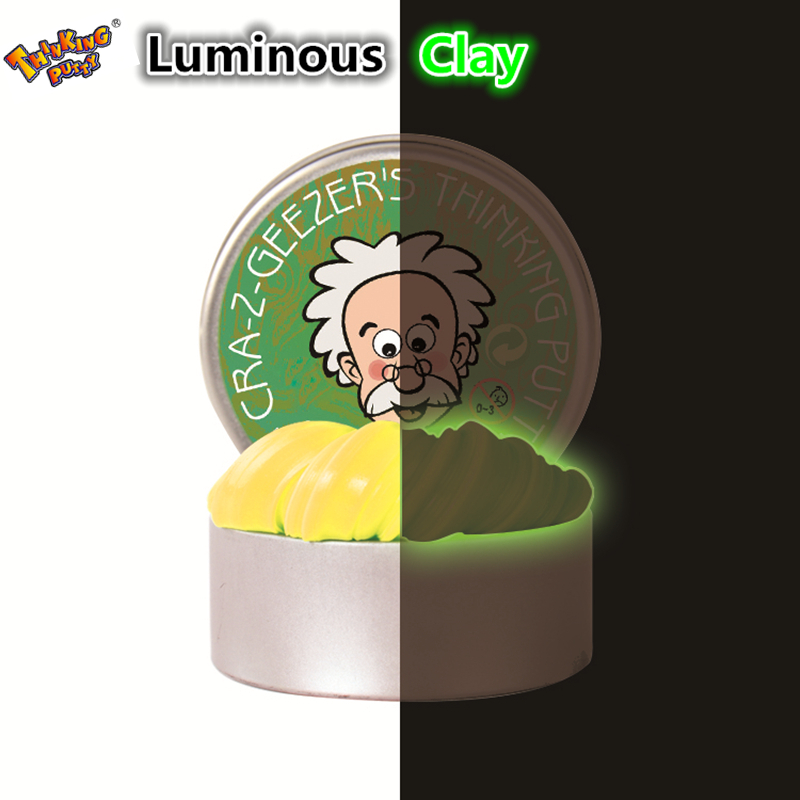 DIY Luminous Slime Modeling Clay Light Glow In The Dark Bouncing Mud Plasticine Playdough Education Novelty Creative Toys graffiti party diy glow in the dark luminous pigment lemon yellow