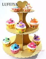 Cupcake Stand 3 Tier Cake Stand Paper Dessert Holder Cake Holder Festive & Party Supplies