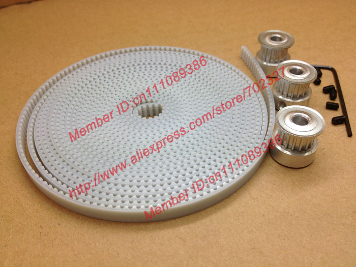 Free Shipping 3pcs 16Teeth T2.5 Timing pulley bore 5mm + 5Meters T2.5 timing belt witdth 6mm Set for RepRap Prusa Mendel Huxley free fast delivery 50t big teeth htd8m timing belt pulley