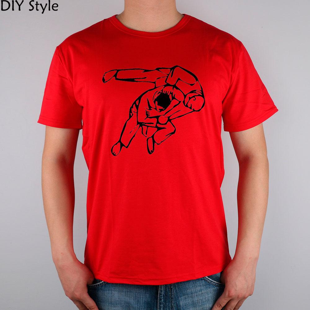 Judo way jujitsu jujitsu t shirt top lycra cotton men for Best quality shirts to print on