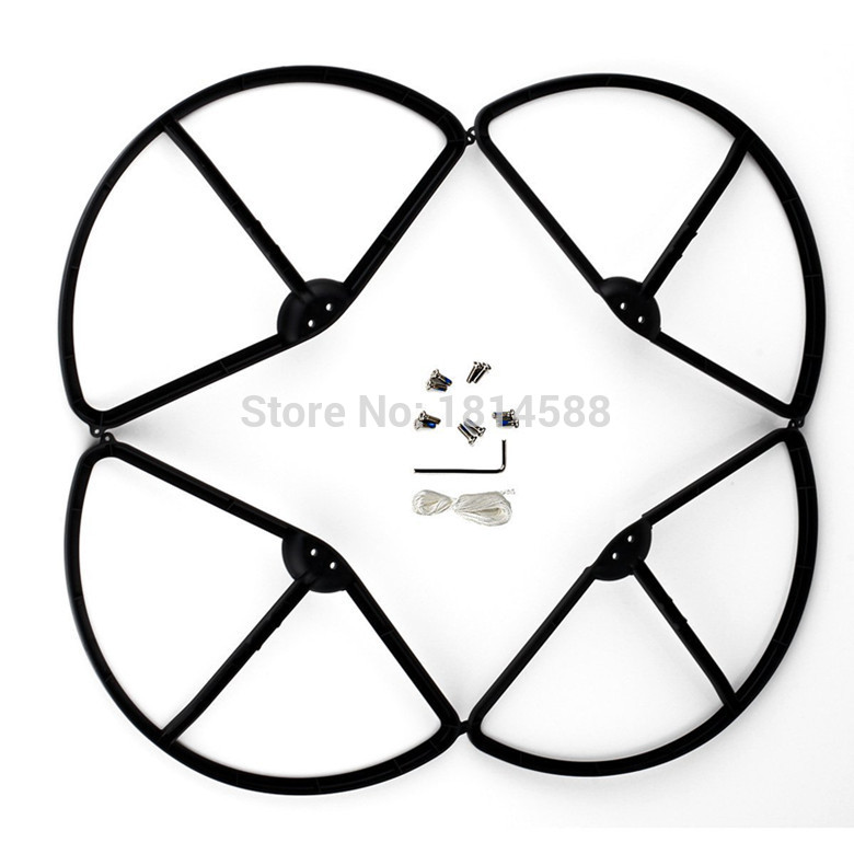 DJI Phantom 3 aerial four axis aircraft blade protection ring propeller protector WLtoys V303 black protective ring parts