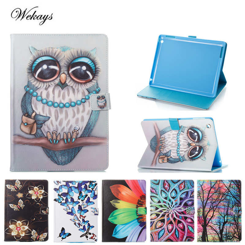 Wekays For Coque Apple IPad 4 3 2 Cute Cartoon Owl Leather Fundas Case For IPad2 IPad3 IPad4 Tablet Cover Case For Ipad 2 3 4 for apple ipad mini 4 tablet case pu flip leather stand cartoon animal owl cat cover for ipad mini 4 fundas coque